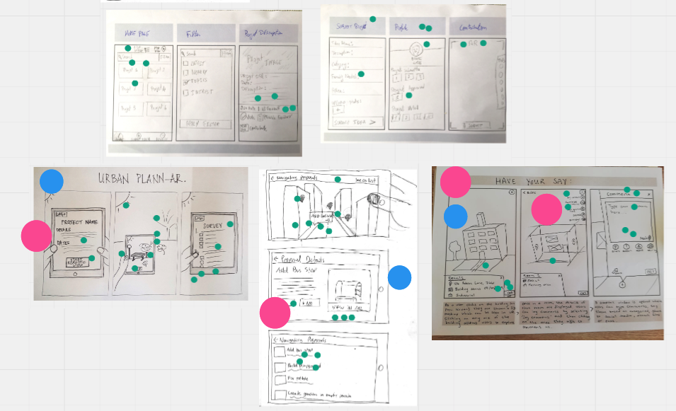 Solution sketches with heat maps, straw poll and Supervotes