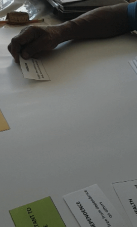 Participant #2 completing his card sort